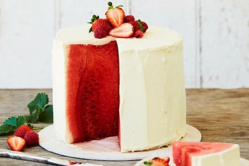 Kids Party Ideas That Won't Cost The Earth - Watermelon Cake With Cream